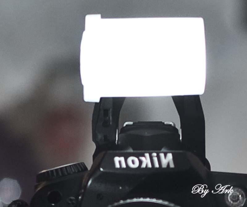 вид рассеивателя на фотоапарате
