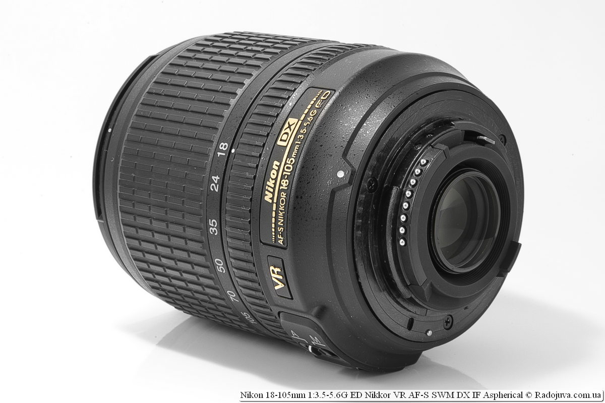 Nikon Nikkor dx 18-105mm, вид со стороны байонета