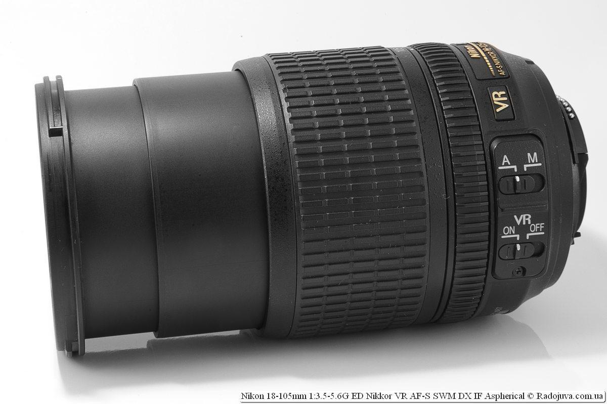 Nikon Nikkor dx 18-105mm, максимальная длина