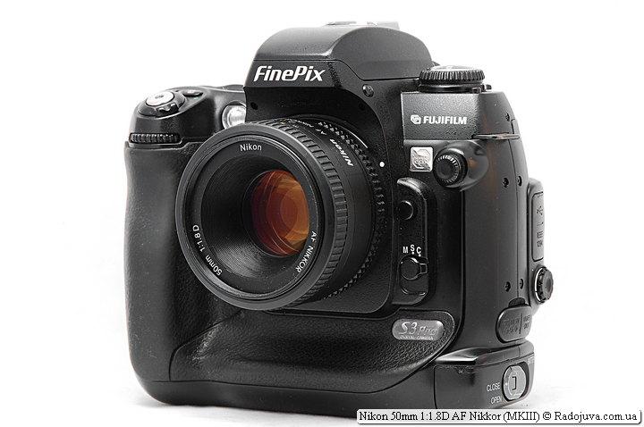 Nikon 50mm 1:1.8D AF Nikkor на камере Fujifilm FinePix S3 Pro