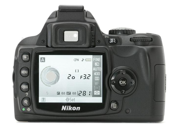 Дисплей настройки камеры Nikon D40