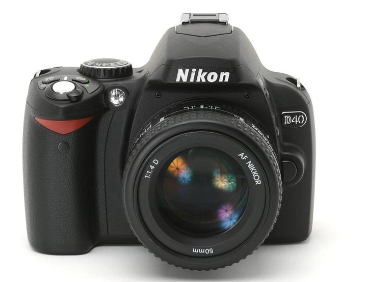NIkon D40 с объективом Nikon AF Nikkor 50mm 1:1.4D