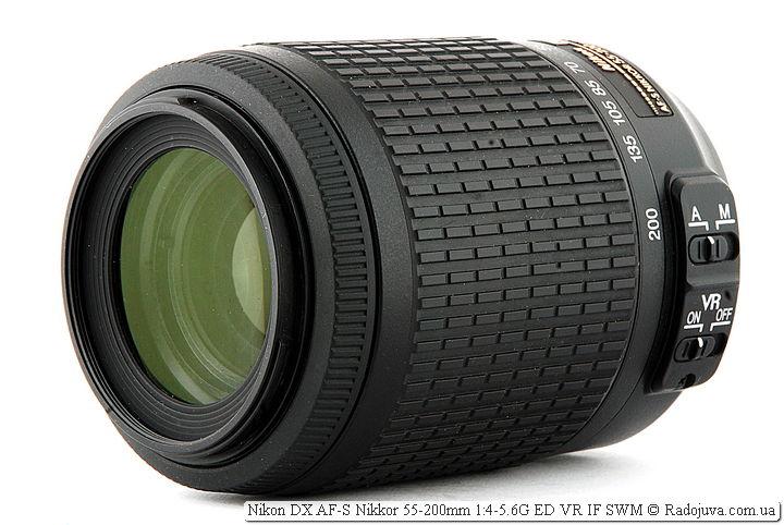 Обзор объектива Nikon DX AF-S Nikkor 55-200mm 1:4-5.6G ED VR I