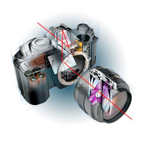 Общий вид и конструктив цифрозеркальной камеры