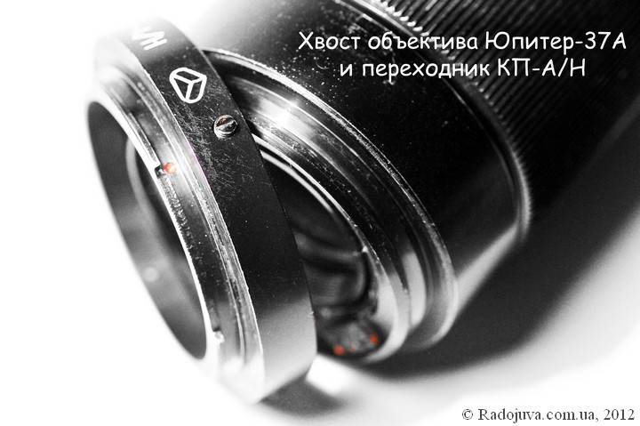 Adapter KP-A-N and lens with interchangeable shank