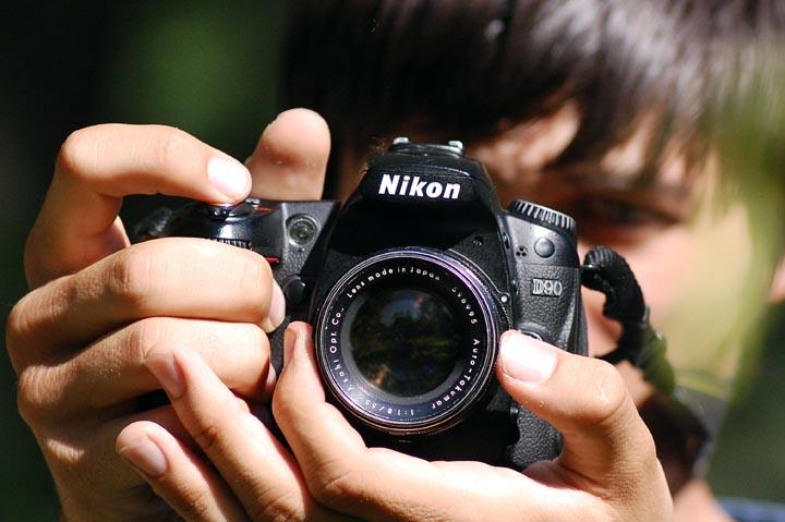 Вид Auto-Takumar 55mm f1.8 на камере