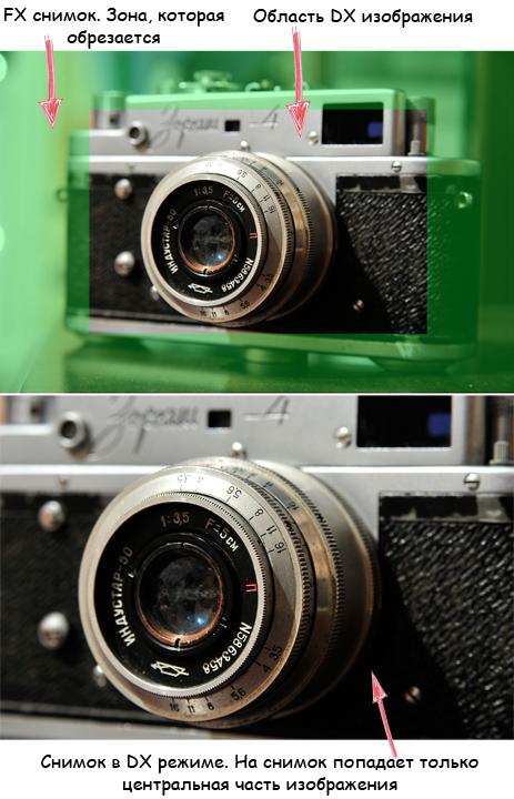 Разница между кропнутой и полнокадровой камерой