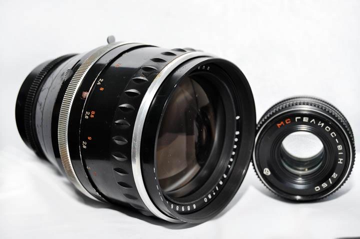 Carl Zeiss Jena Sonnar 180mm f2.8 сравнение размеров