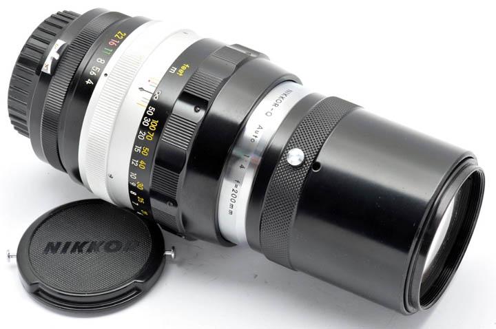 Вид объектива NIKKOR-Q Auto 1:4 f=200mm