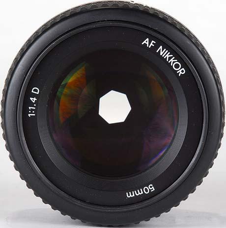 Вид диафрагмы Nikon 50mm F1.4D