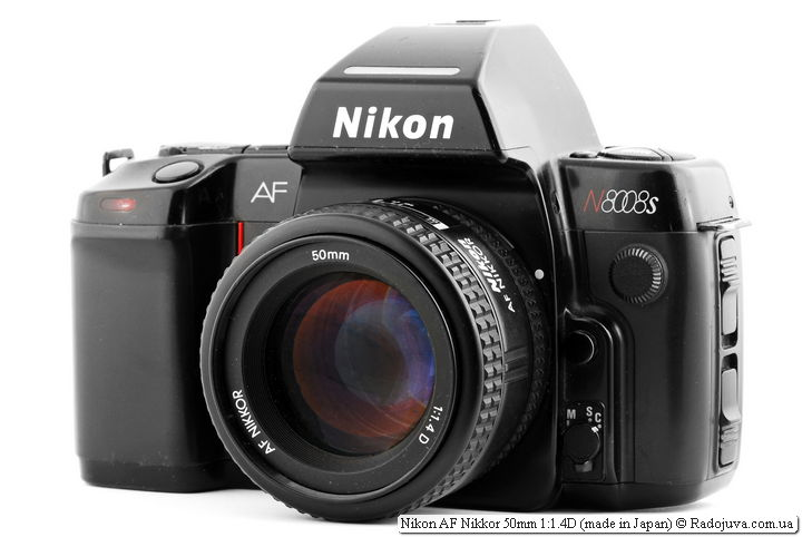 Nikon AF Nikkor 50mm 1: 1.4D on the ZK