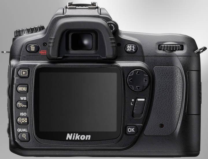 Nikon D80 rear view