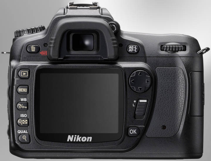 Nikon D80 вид сзади