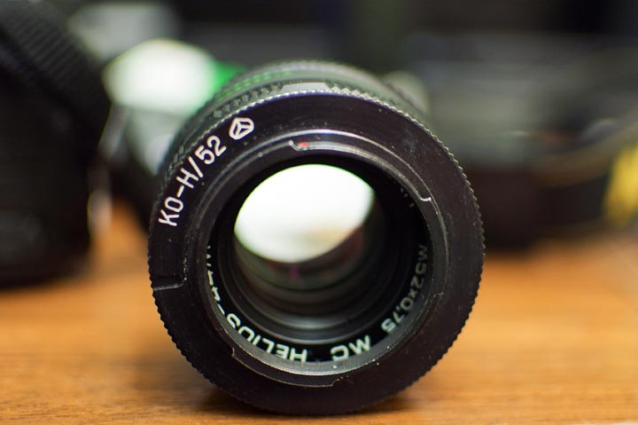 View of the reversing ring on the lens