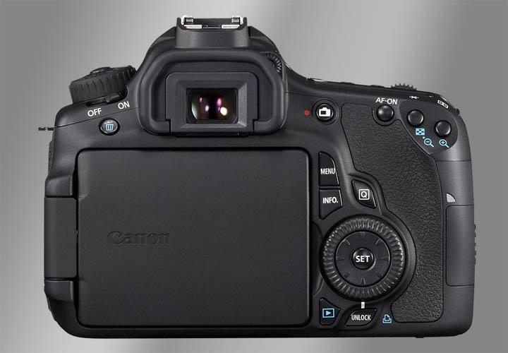 Вид камеры Canon 60D сзади