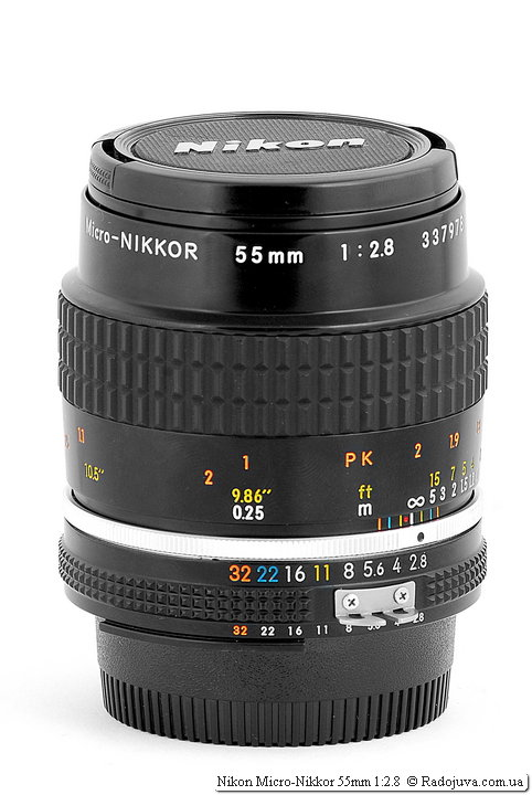 Nikon Micro-Nikkor 55mm 1: 2.8 with native covers
