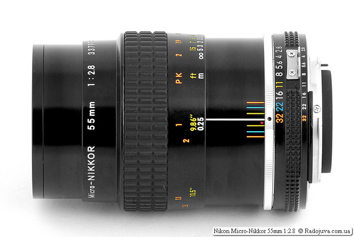 Nikon Micro-Nikkor 55mm 1: 2.8 when focusing on MDF