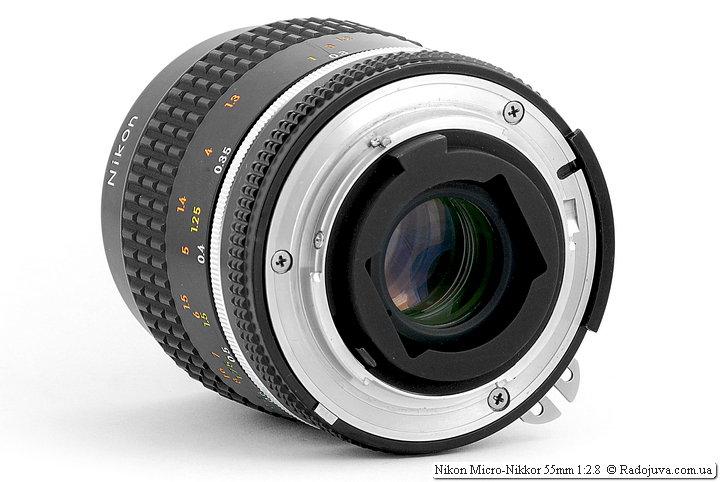 Задняя линза Nikon Micro-Nikkor 55mm 1:2.8