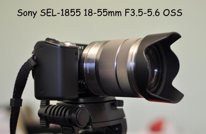Вид объектива SEL-1855 18-55 мм F/3,5-5,6
