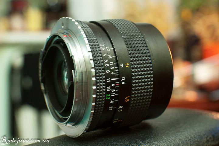 Вид объектива Carl Zeiss Distagon T* 35mm F2.8