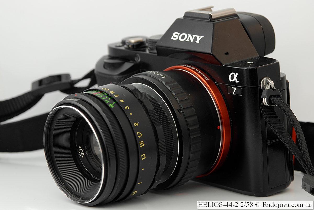 Гелиос-44-2 2/58 (HELIOS-44-2 2/58) на камере Sony a7