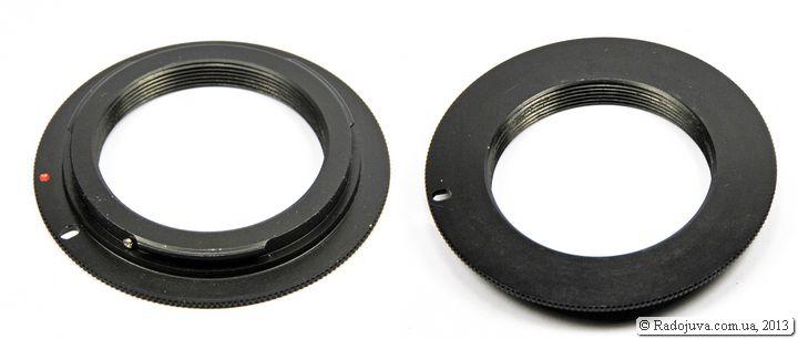 Обычный переходник M42 - Canon EOS без чипа