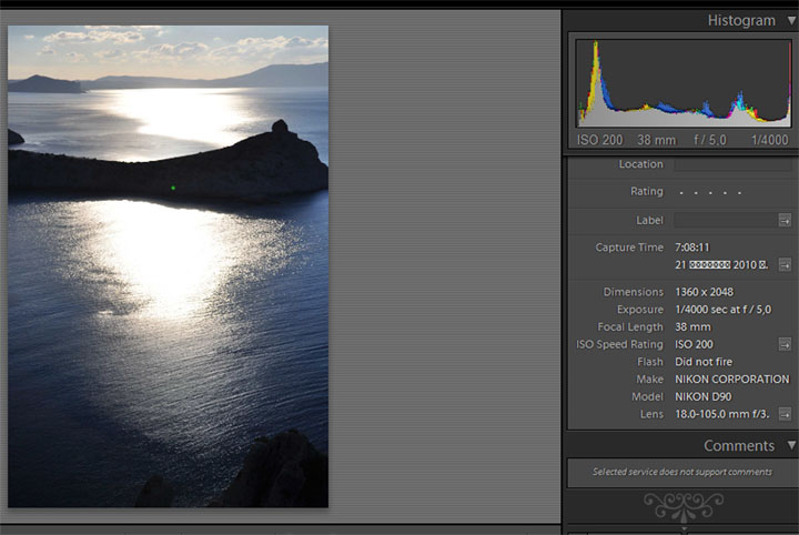 This is how EXIF looks in Lightroom