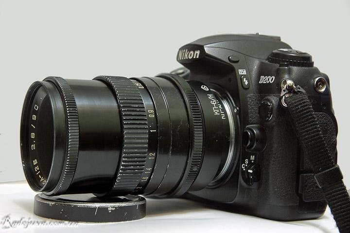 Vega-12Б. Вид на современной камере с переодником КП-6 Н