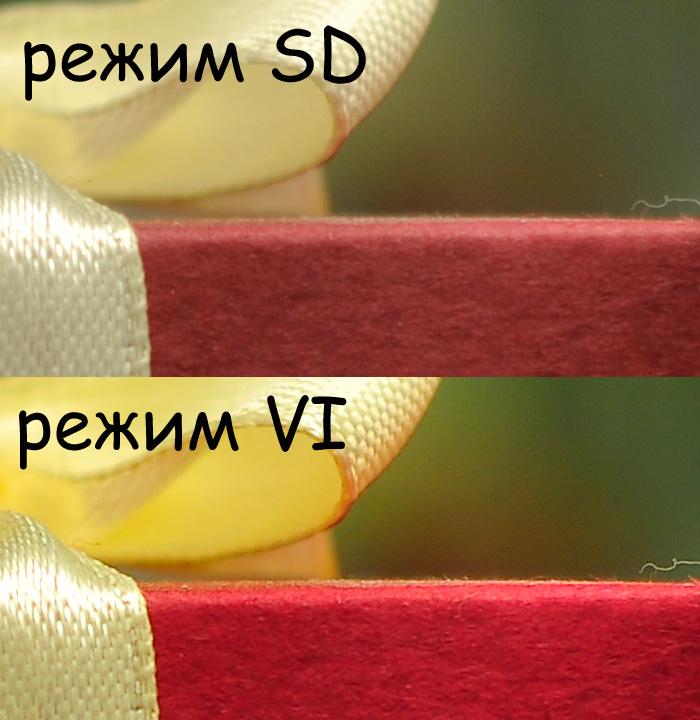 Разница в режимах управления снимками SD и VI