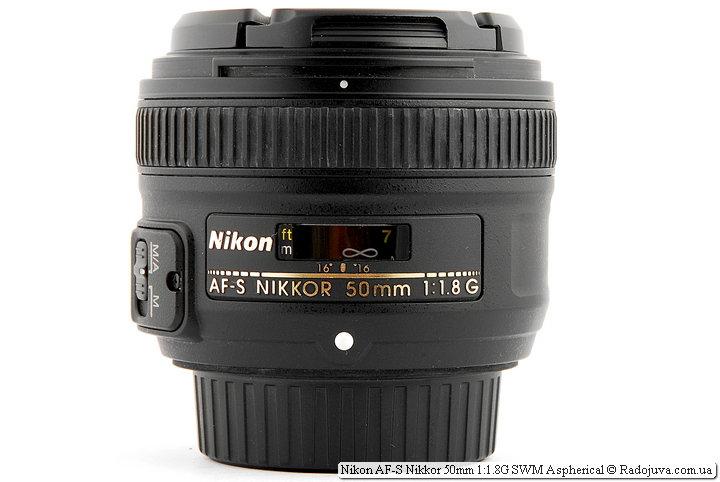 Объектива Nikon AF-S Nikkor 50mm 1:1.8G SWM Aspherical с двумя крышками