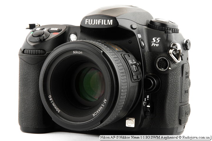 Nikon AF-S Nikkor 50mm 1:1.8G SWM Aspherical на камере Fujifilm FinePix S5 Pro