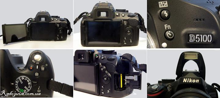 Вид камеры Nikon D5100 с разных сторон