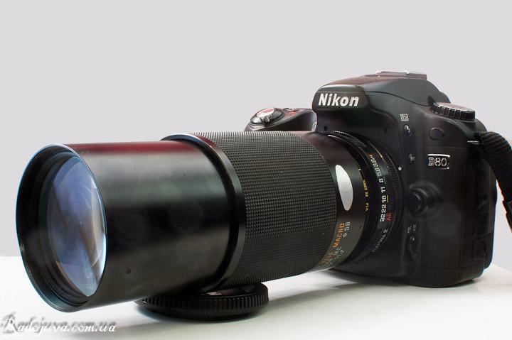 Вид Tamron 80-210 mm F 3.8-4 Tele-Macro на современной камере