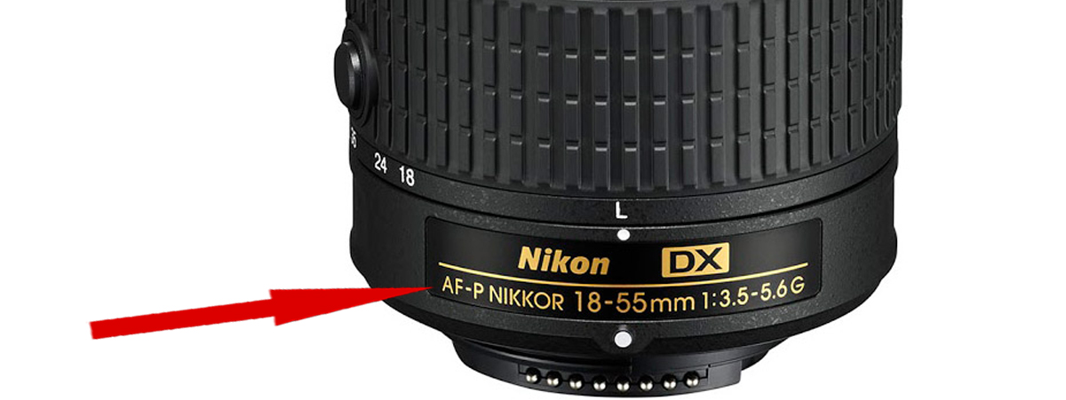 Обозначение 'AF-P' на объективе Nikon DX AF-P Nikkor 18-55mm 1:3.5-5.6G