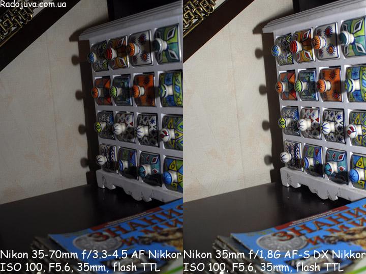 Разница при работе со вспышкой между Non-D, D объективами