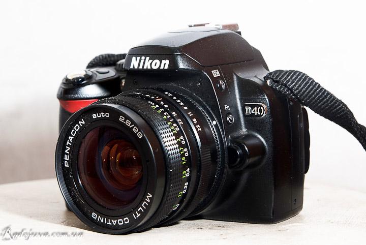 Вид на современной камер Pentacon 29 2.8