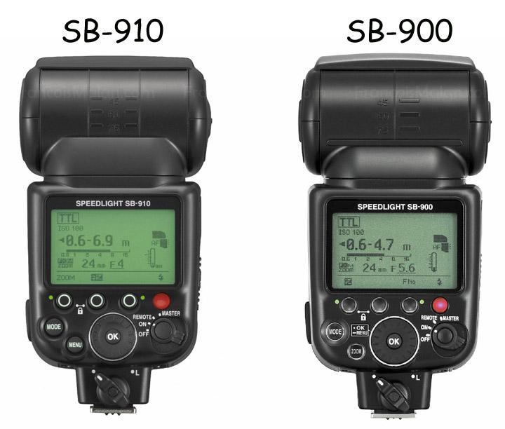 Cравнение SB-910 и SB-900