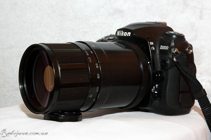 Вид объектива МС ЗМ-5СА на современной цифрозеркальной камере