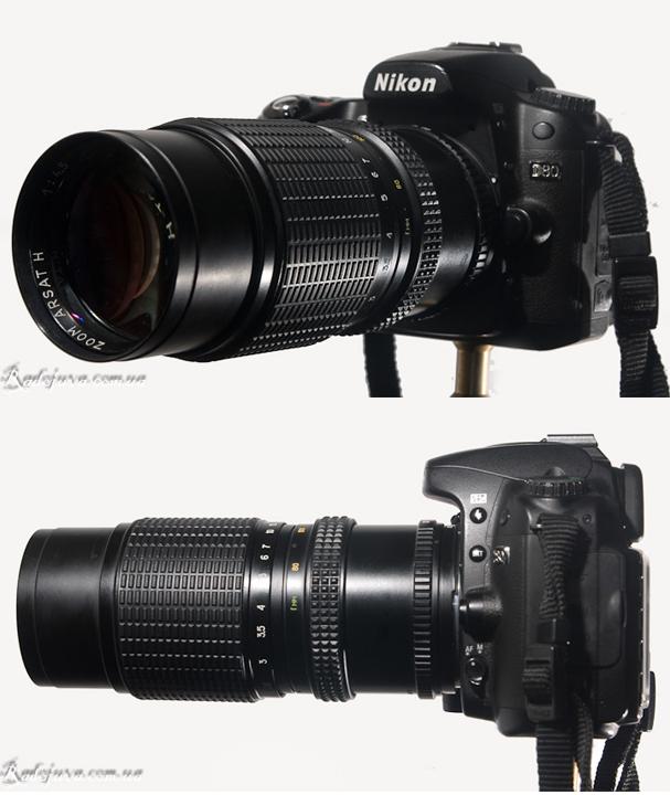 Вид MC Гранит-11Н F4,5 80-200mm с разных сторон на современной камере