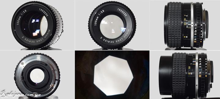 Вид объектива Nikon 100mm F2.8 Series E