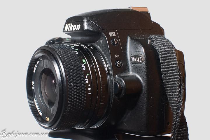 Вид MC Soligor Wide-Auto 1:2.8 F=28mm на современной ЦЗК