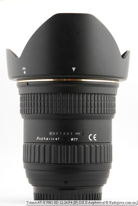 Tokina AT-X PRO SD 12-24 F4 (IF) DX II Aspherical с блендой