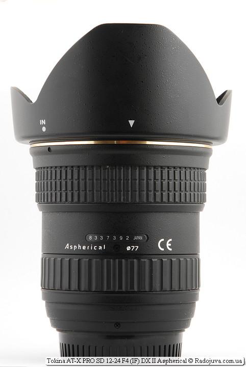 Tokina AT-X PRO SD 12-24 F4 (IF) DX II Aspherical с блендой