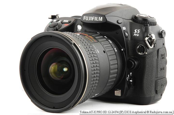 Tokina AT-X PRO SD 12-24 F4 (IF) DX II Aspherical на камере Fujifilm FinePix S5 Pro
