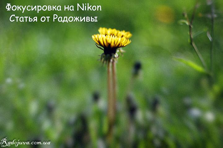 Фокусировка на Nikon