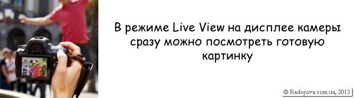 Как работает Live View