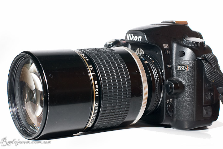 Nikon 180mm 1:2.8 ED Nikkor вид на современной ЦЗК