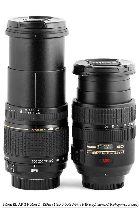 Tamron AF 28-300mm 1:3.5-6.3 [IF] Macro A20 Aspherical LD XR DI VC и Nikon ED AF-S Nikkor 24-120mm 1:3.5-5.6G SWM VR IF Aspherical