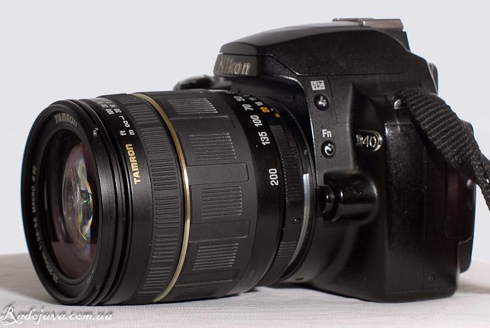 Tamron 28-200mm 1:3.8-5.6 Macro AF Aspherical XR (IF) на камере Nikon D40