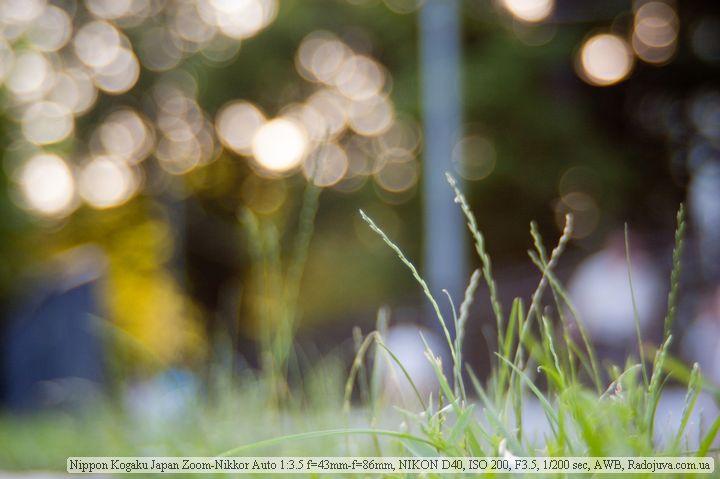Боке на Zoom-Nikkor Auto 1:3.5 43-86mm
